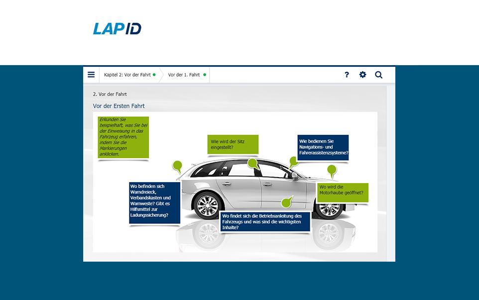 Fahrerunterweisung von LapID Lektionen