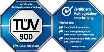 TÜV-zertifizierter Datenschutz