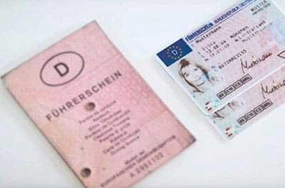 Deutscher Papierführerschein und EU-Kartenführerschein