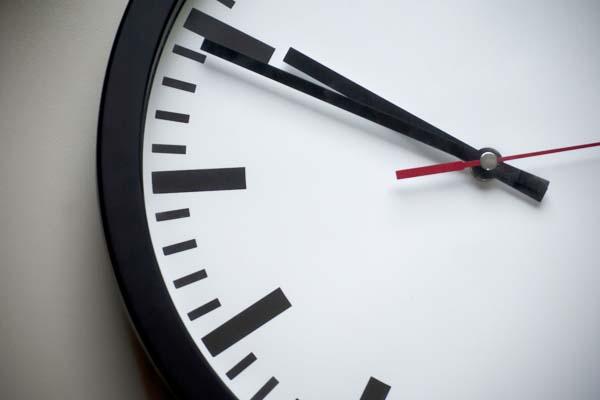 Analoge Uhr Uhrzeiger