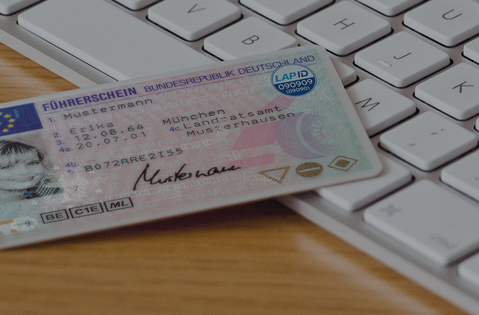Führerschein mit LapID RFID Siegel