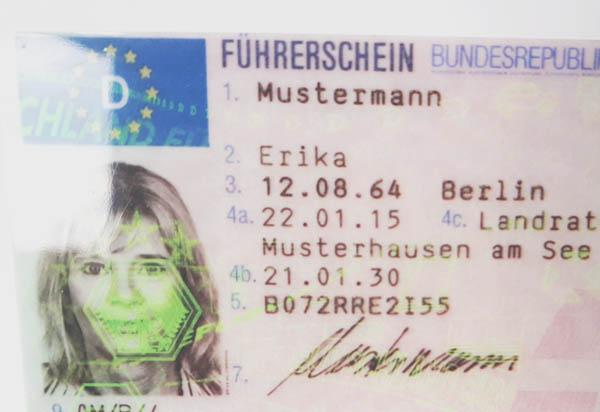 Deutscher EU Kartenführerschein Muster