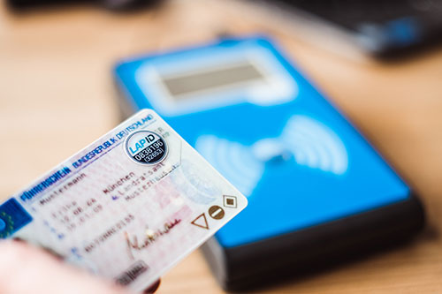 Das LapID Siegel auf dem Führerschein