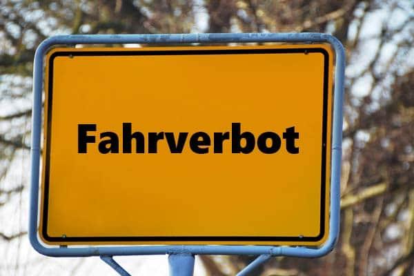 Fahrverbot Straßenschild