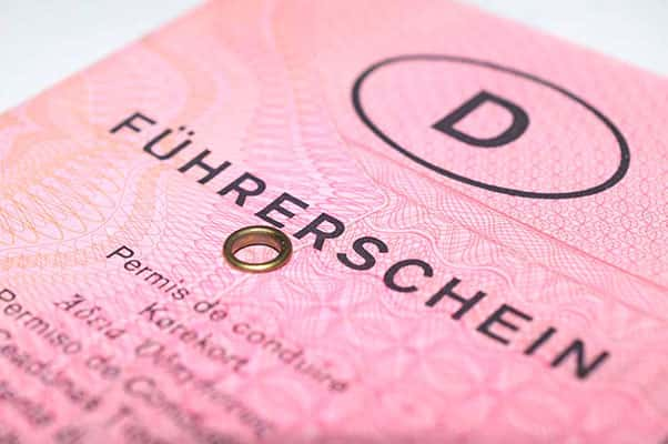 Rosa Papierführerschein