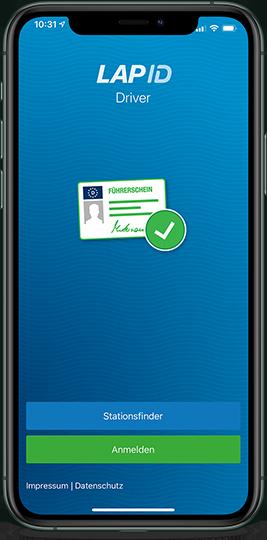 Führerscheinkontrolle per Driver App