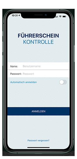 Führerscheinkontrolle per Manager App
