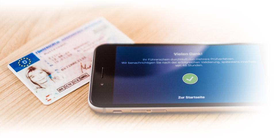 LapID Driver App nach erfolgreicher Kontrolle