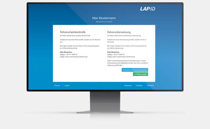 Fahrerportal LapID Unterweisung